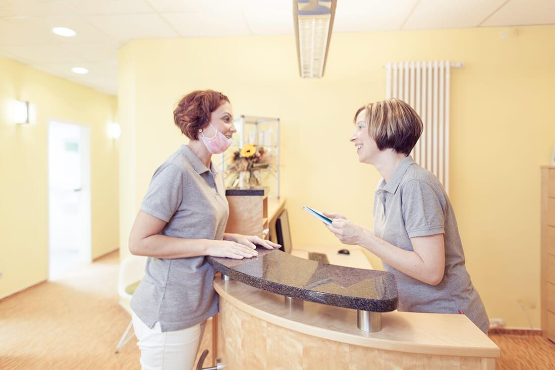 Zahnarzt Weißenfels - Keck - Praxis - Empfang